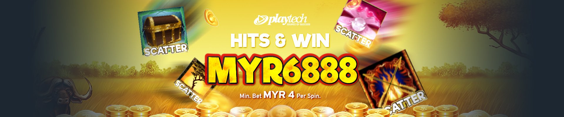 Hits & Win MYR6,888 Scatter Slots Malaysia 2021