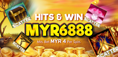 Hits & Win Scatter Slots Banner