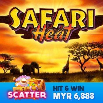 Play Safari Heat Scatter Slot Game