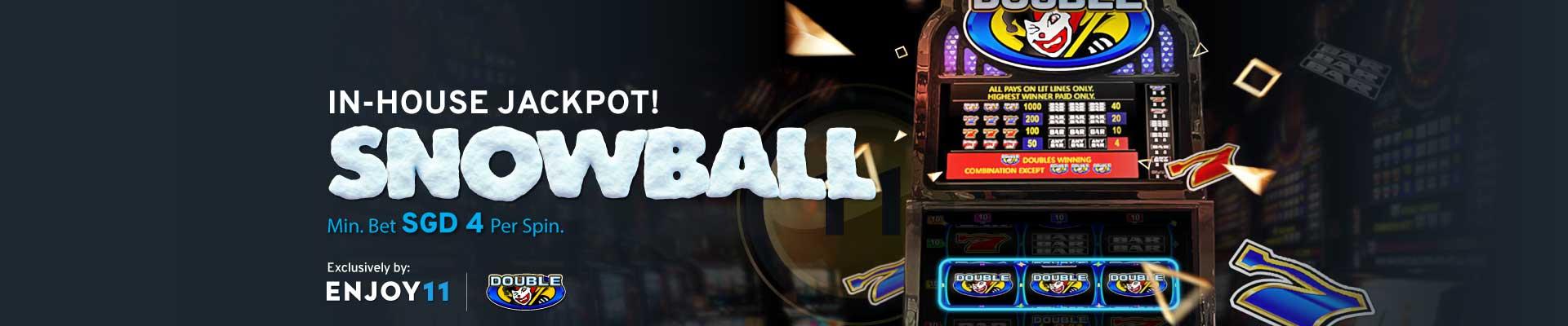 Enjoy11 In-House Jackpot Snowball Desktop Banner